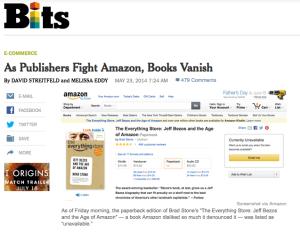 As publishers fight Amazon, books vanish